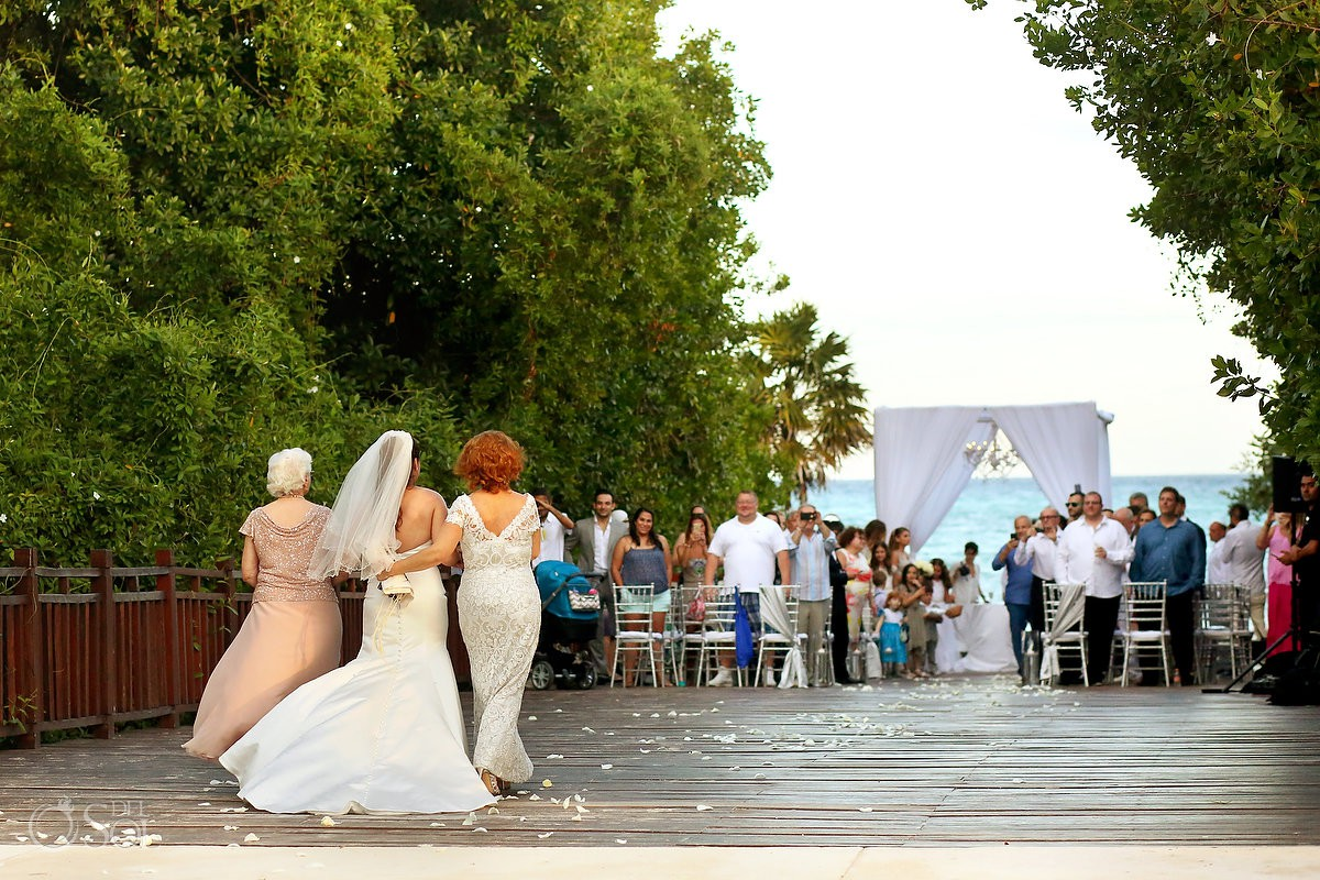 bride entrance Playa del Carmen Jewish Wedding Paradisus Riviera Maya Gabi Bridge