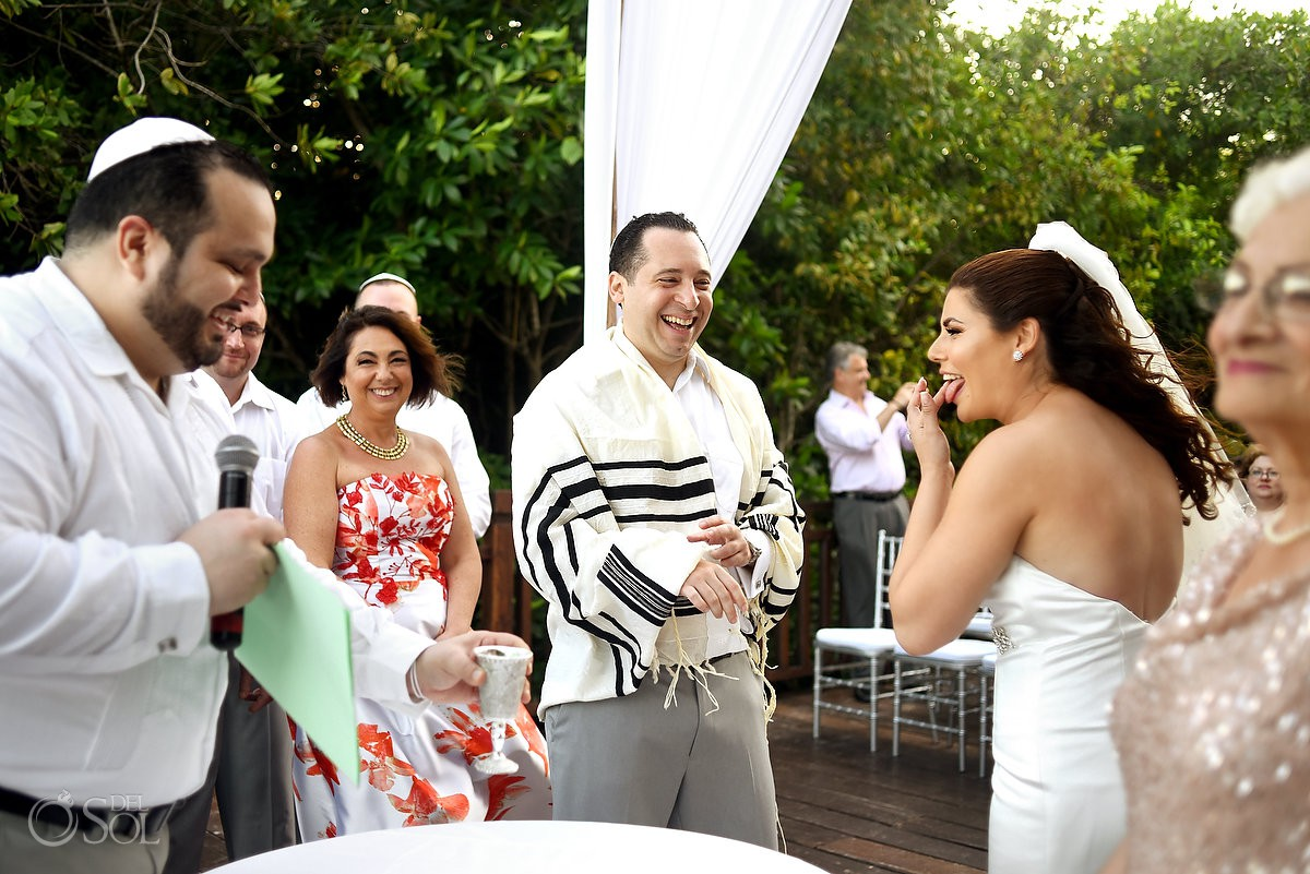 Playa del Carmen Jewish Wedding ceremony tradition Paradisus Riviera Maya Gabi Bridge