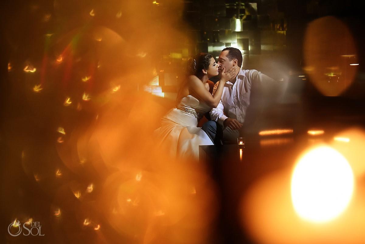 artistic wedding portrait Playa del Carmen Paradisus Riviera Maya Gabi Club