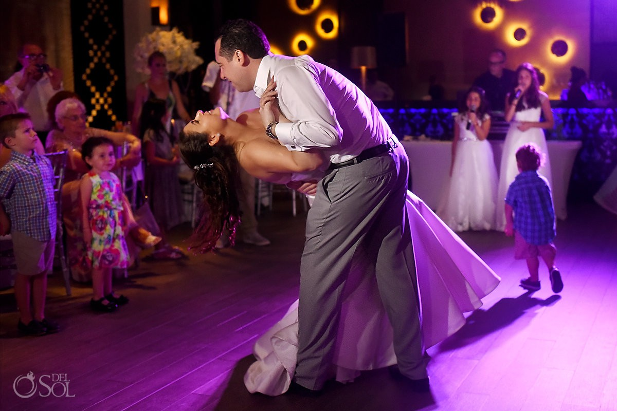 Playa del Carmen destination wedding reception first dance Paradisus Riviera Maya Gabi Club