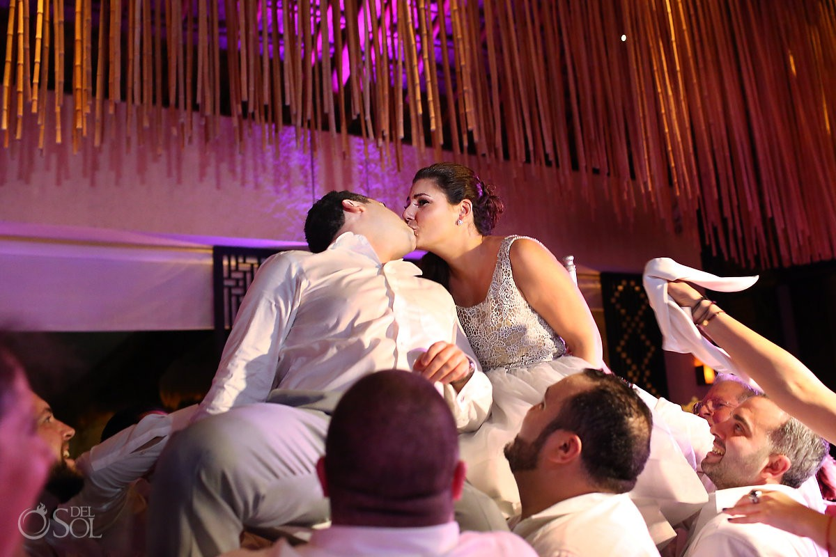 Playa del Carmen Jewish wedding tradition hora dance wedding reception Paradisus Riviera Maya Gabi Club