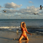 Allison Dunbar Smokeshow burlesque dancer bikini swimwear shoot Viceroy Riviera Maya Playa del Carmen Mexico