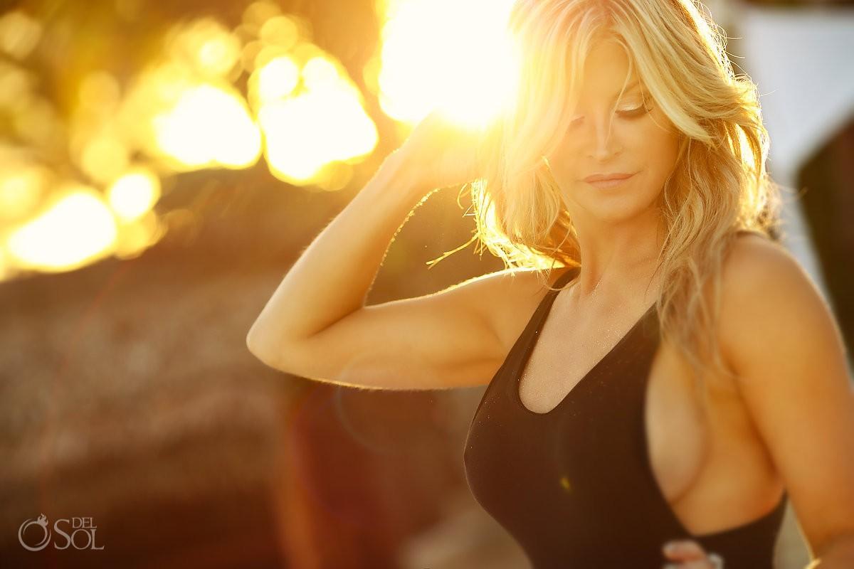 Beautiful sunset light Allison Dunbar Boudoir Photography Viceroy Riviera Maya