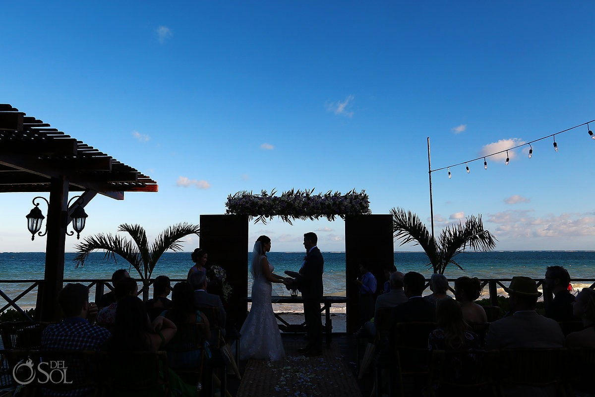 Now Sapphire Tequila Terrace Wedding Ceremony Photo