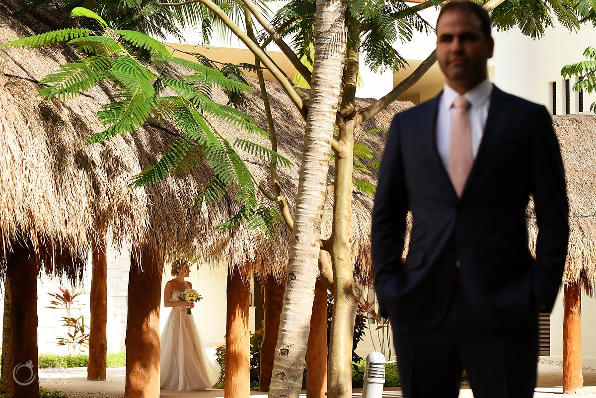 Secrets Akumal Wedding first look