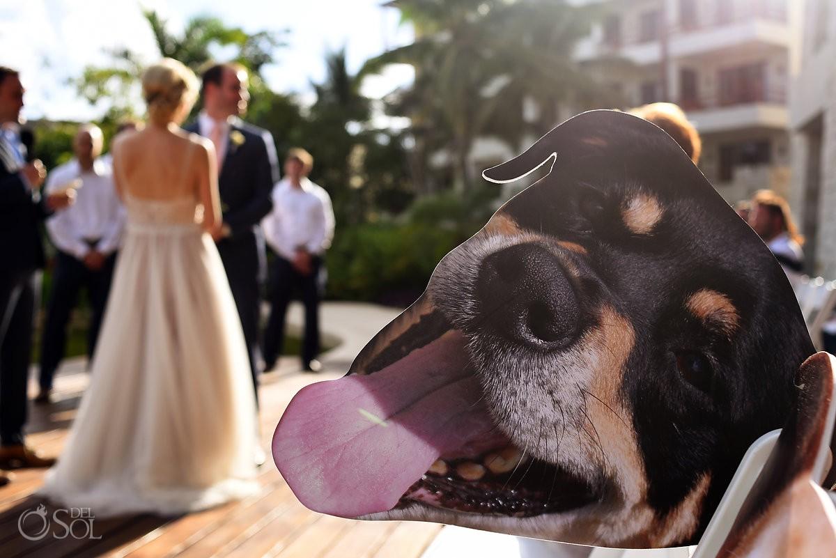 wedding dog details ideas Secrets Akumal Riviera Maya Mexico
