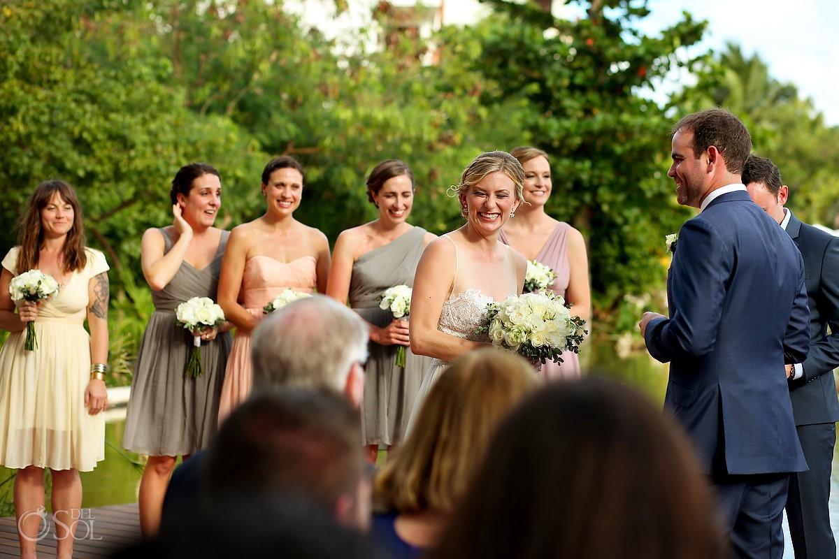 fun wedding ceremony moments Secrets Akumal Riviera Maya Mexico