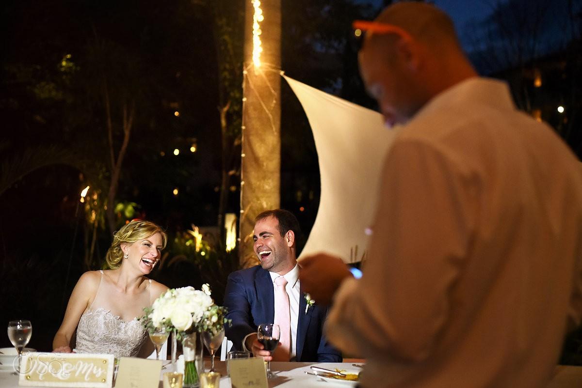 best man speeches wedding reception Secrets Akumal Riviera Maya Mexico
