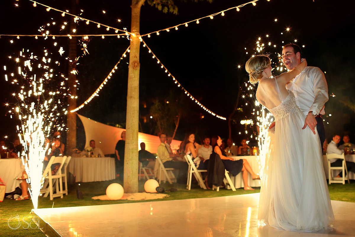 bride and groom first dance Secrets Akumal Riviera Maya Mexico