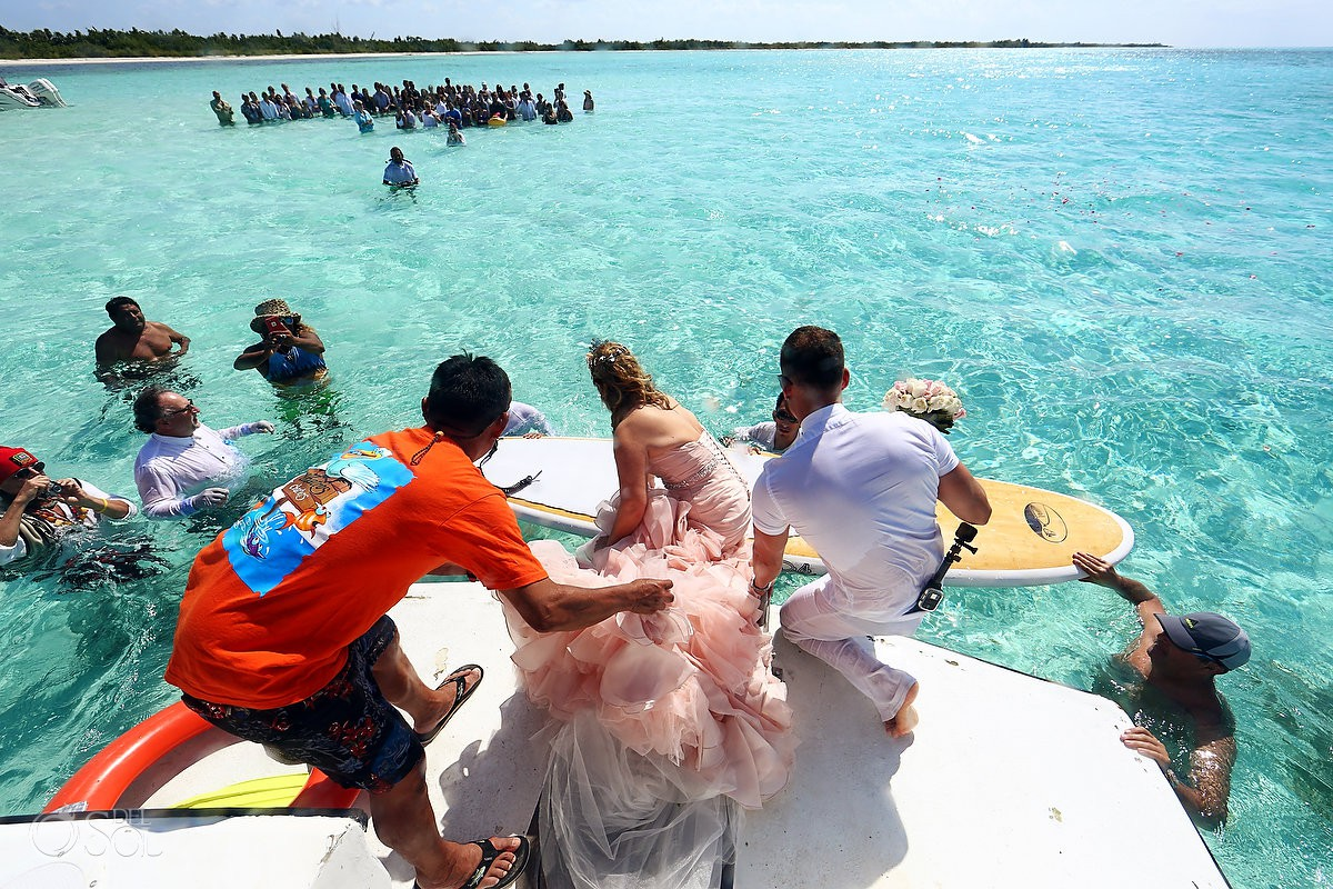 El cielo Cozumel Impossible wedding ceremony in the ocean