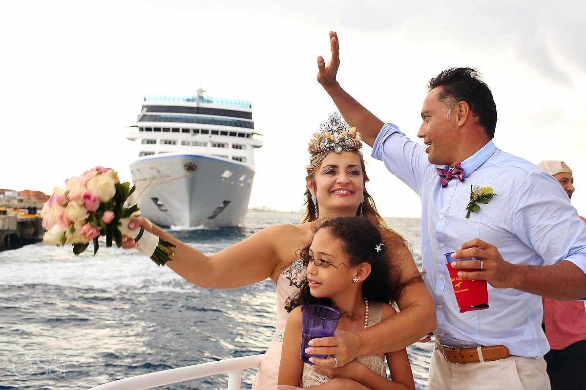 Celebrating just married el Cielo Cozumel Mexico