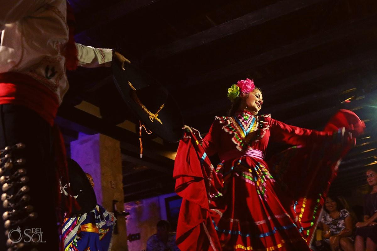 Wedding reception mexican dancers Cozumel Mexico