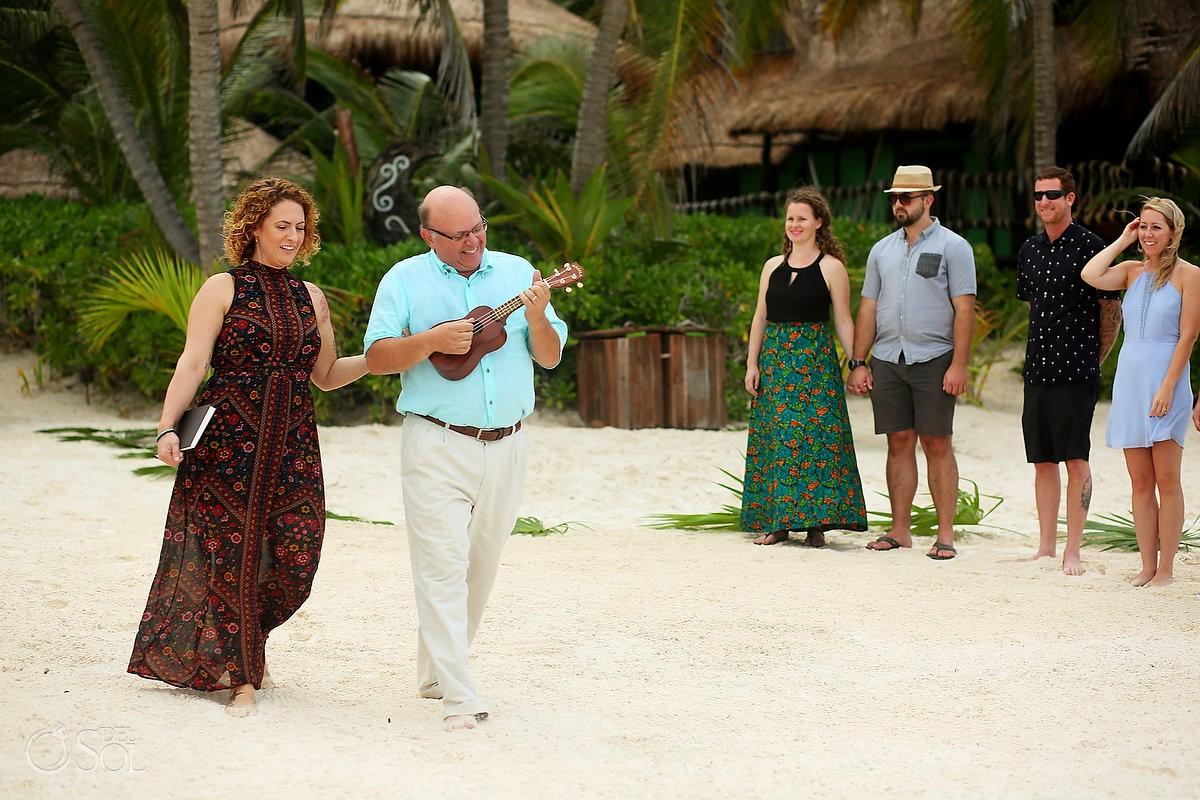 Wedding ceremony entrance ideas ukulele music best beach destination weddings