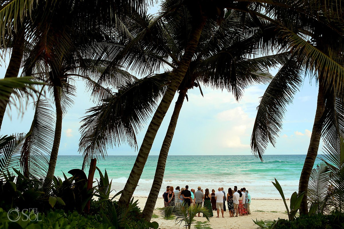 Destination beach wedding location circle of love Tulum Mexico