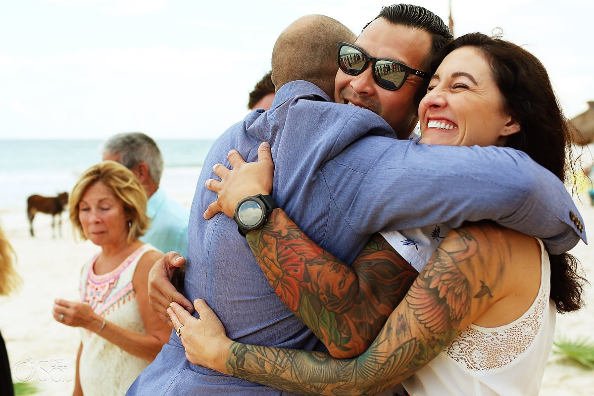 guest love wedding ceremony Cabañas La Luna Tulum Mexico