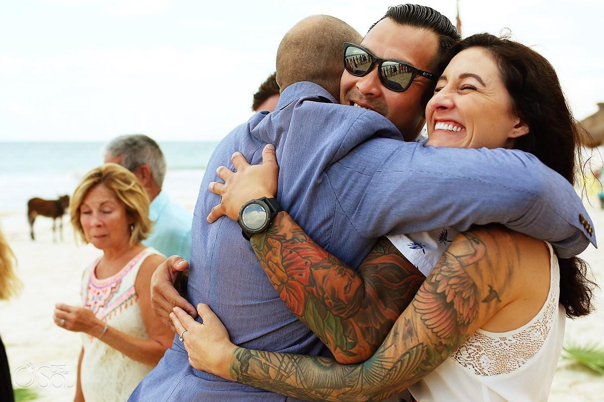 guest love wedding ceremony Cabañas La Luna Tulum Mexico