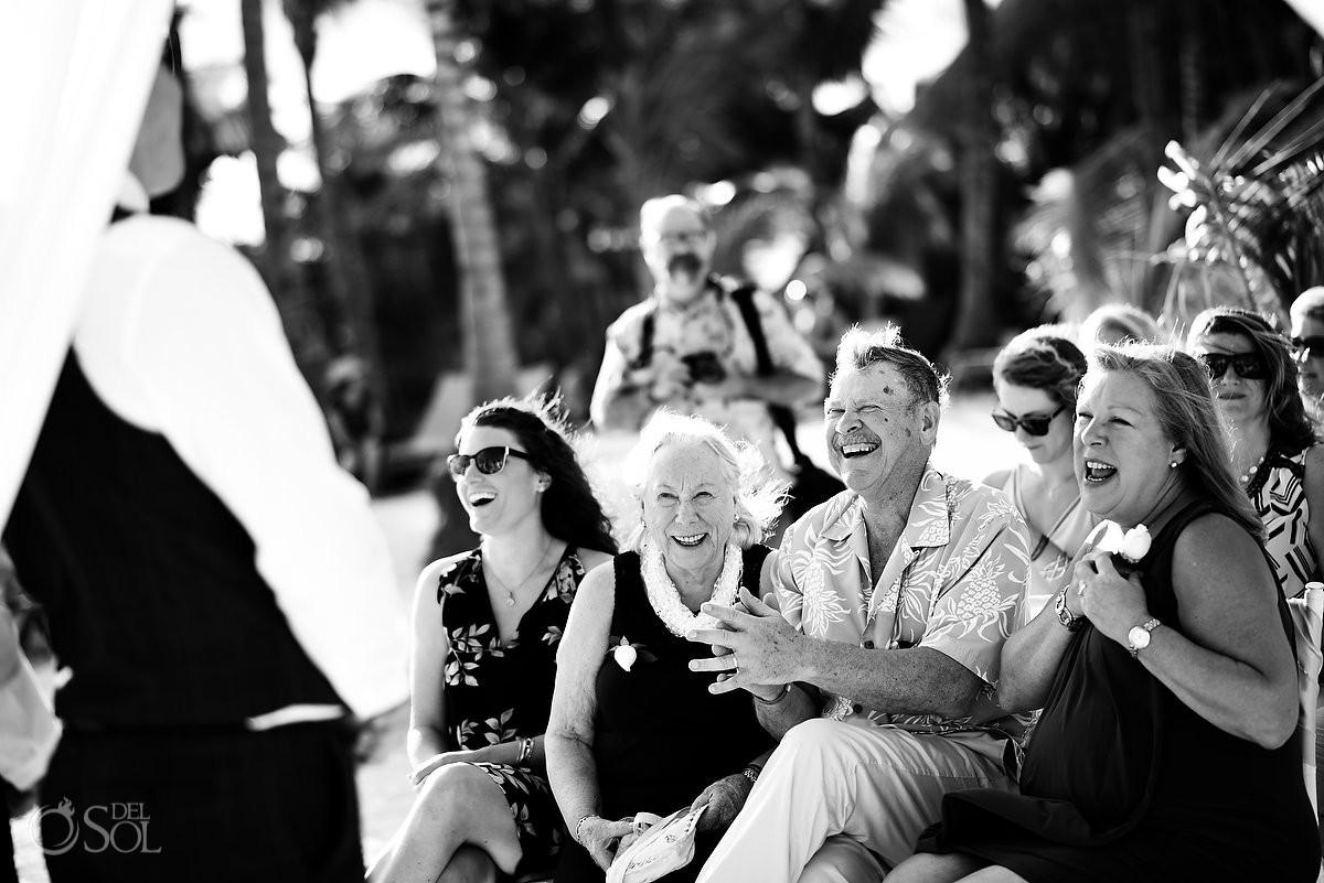 happy wedding guests having fun Barceló Maya Palace Riviera Maya Mexico