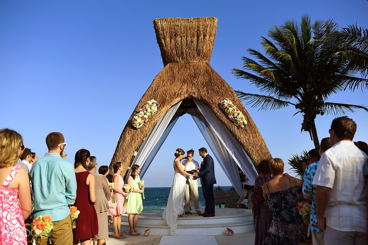 destination wedding Dreams Riviera Cancun gazebo Mexico