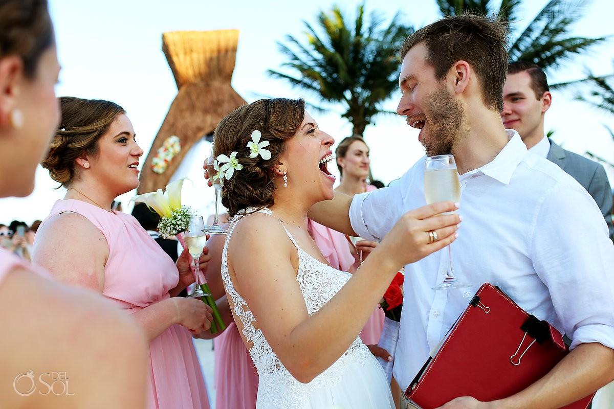 celebration hugs destination wedding Dreams Riviera Cancun gazebo Mexico