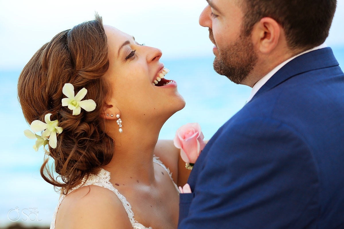destination wedding portrait Dreams Riviera Cancun Resort Mexico