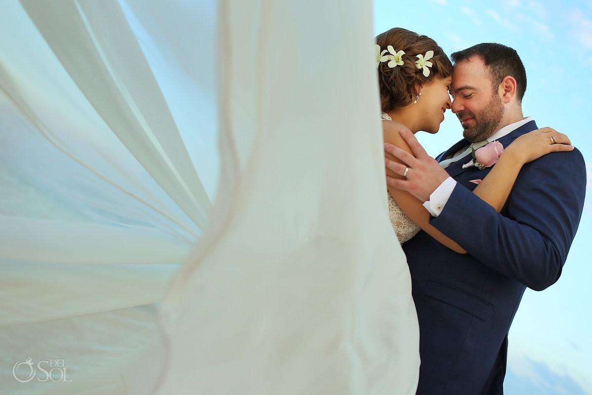 destination wedding portrait Dreams Riviera Cancun Resort Mexico