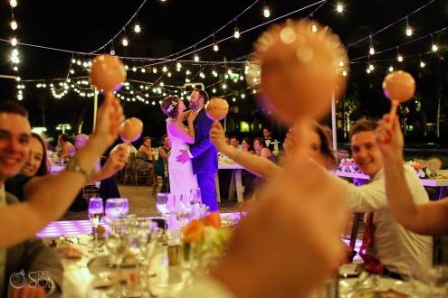 first dance Dreams Riviera Cancun pool deck wedding reception Mexico