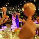 first dance Dreams Riviera Cancun pool deck wedding reception Mexico