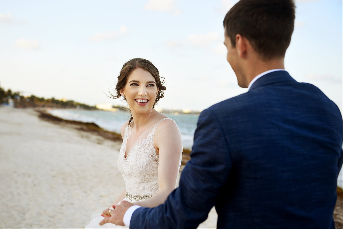 Riviera Cancun Wedding Happy Bride Portrait Now Sapphire
