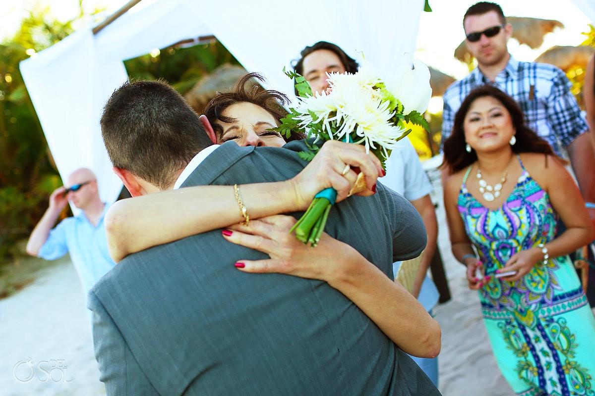 guest love wedding Blue Venado Beach Club Playa del Carmen Mexico.