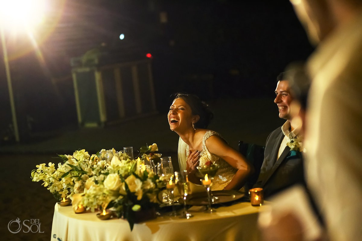 fun toast wedding reception Mexico
