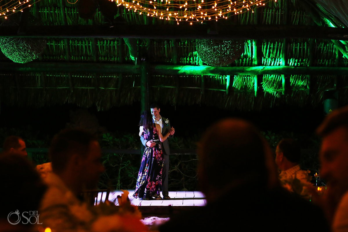Mother and son first dance destination wedding Riviera Maya Mexico