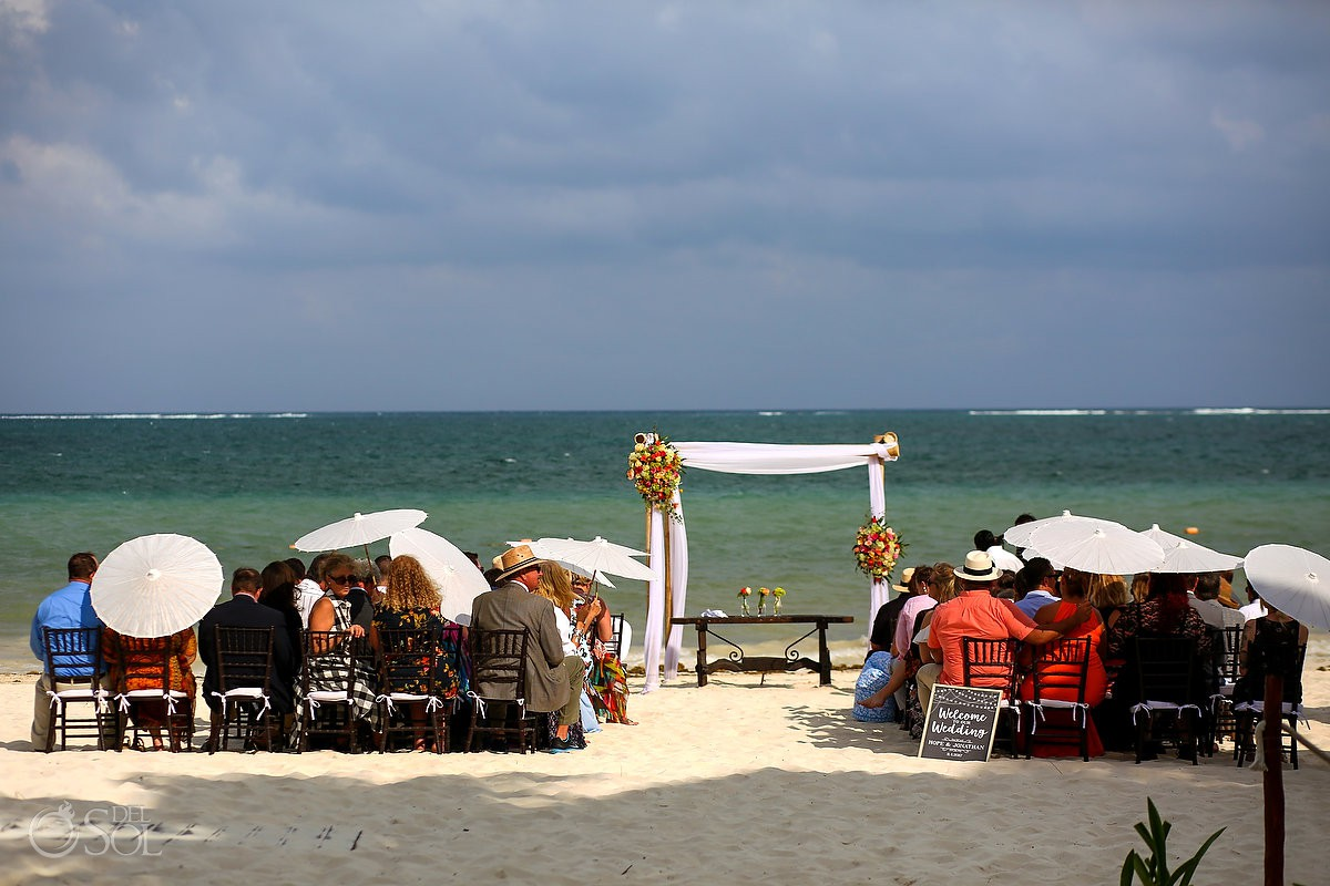 Now Sapphire Secret Beach wedding ceremony