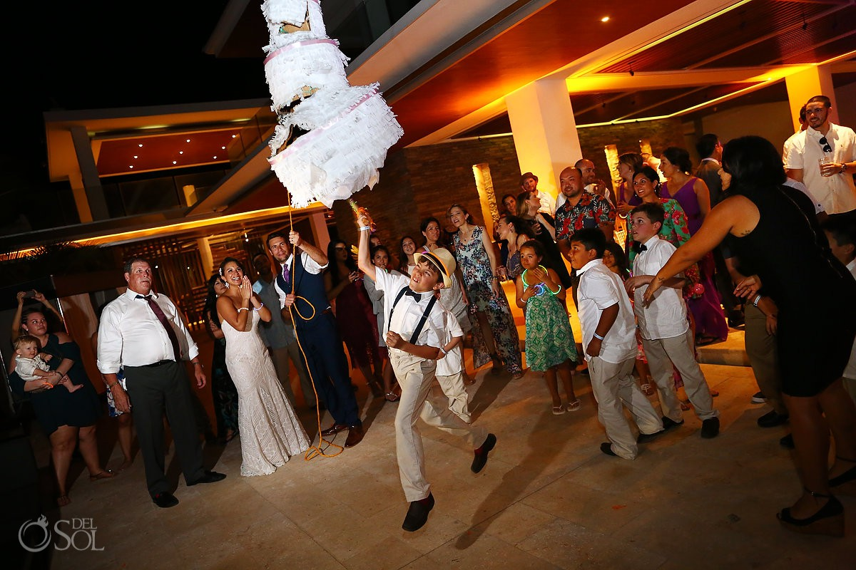 Kids at weddings Mamita's beach club Playa del Carmen Mexico