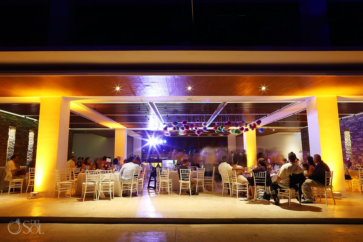 Wedding reception Mamitas beach club Playa del Carmen Mexico