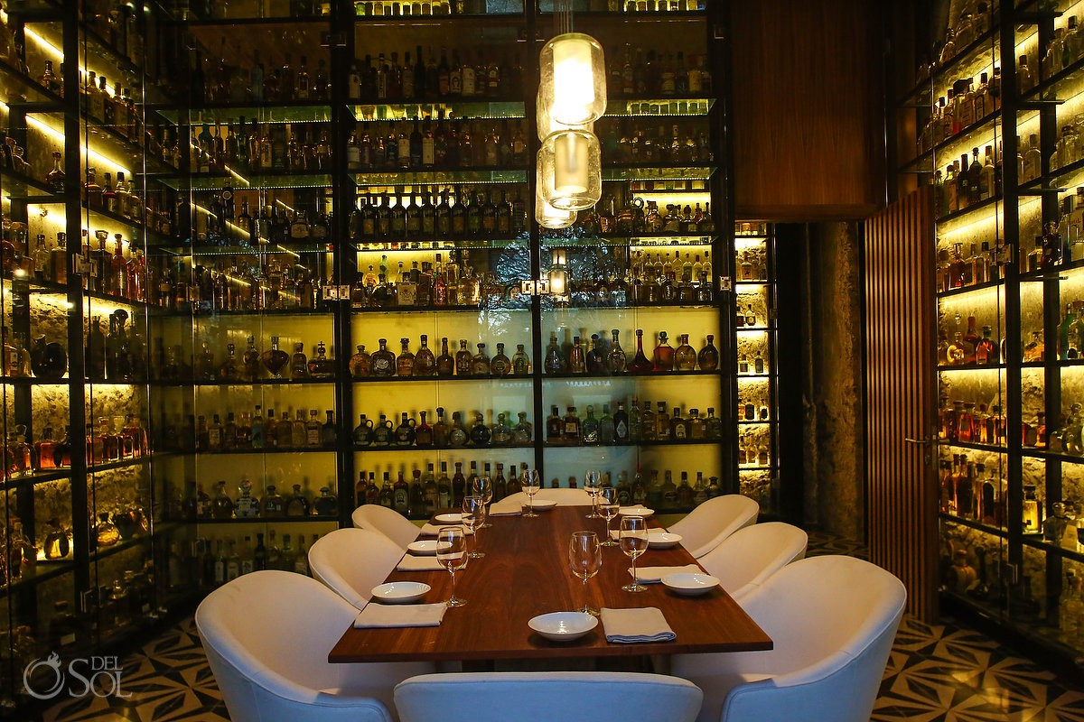 "Wine room at Chable Resort & Spa Yucatan the ""Prix Versailles 2017"" best hotel in the world for architecture and design #ExperienciasInfinitas"