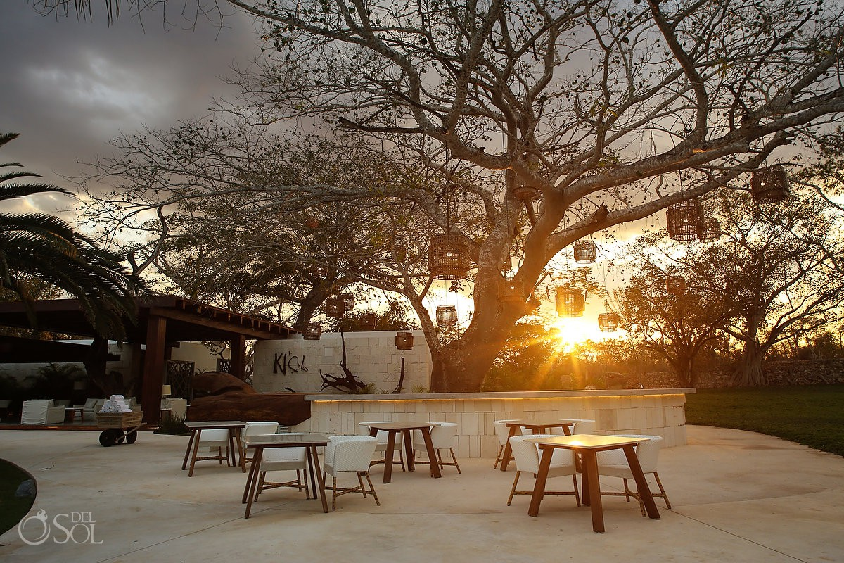 "Outdoor dinner patio Chable Resort & Spa Yucatan the ""Prix Versailles 2017"" best hotel in the world for architecture and design #ExperienciasInfinitas"