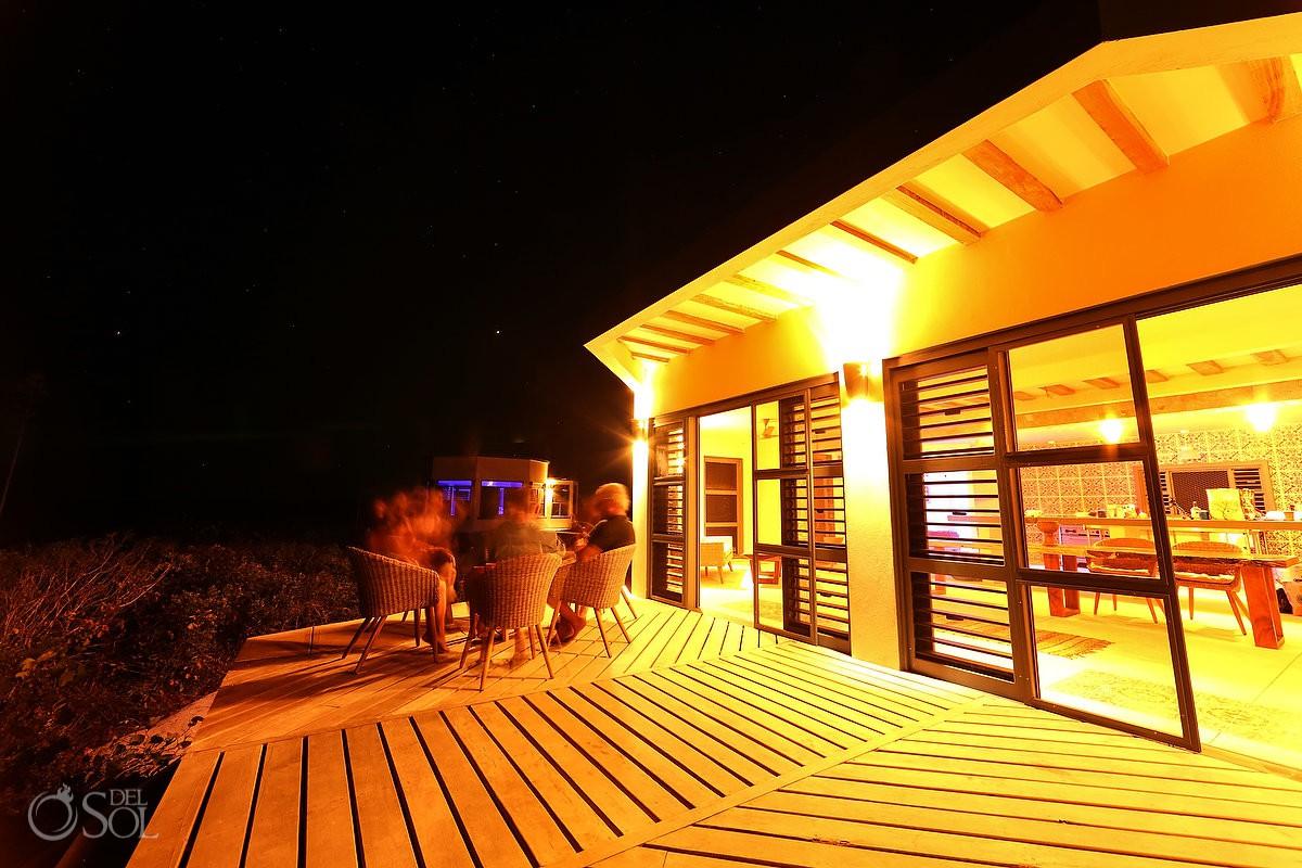 Nirvana Blue Yucatan night views in Rio Lagartos Mexico