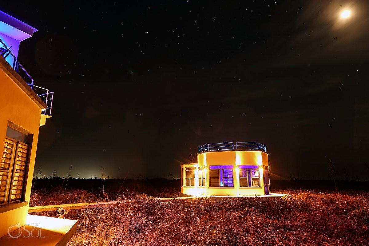 Nirvana Blue Yucatan under the amazing setting moon Rio Lagartos Mexico