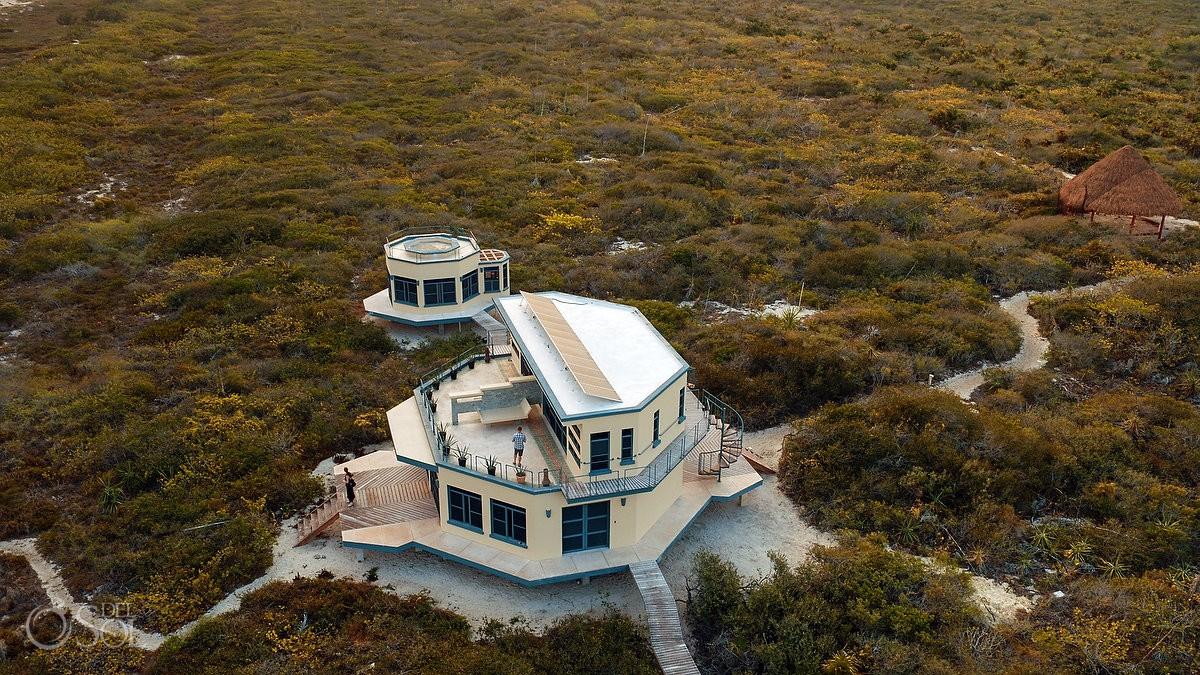 Nirvana Blue Yucatan from a Drone Rio Lagartos Mexico