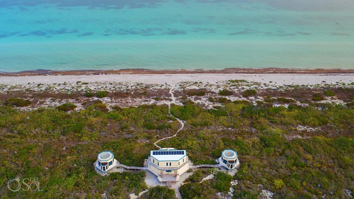 NIrvana Blue Yucatan, a small private villa in Rio Lagartos Mexico DJI Drone photo