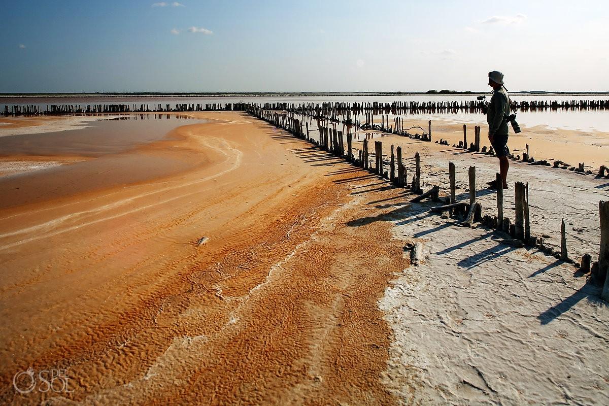 Natural salt production in El Cuyo Yucatan