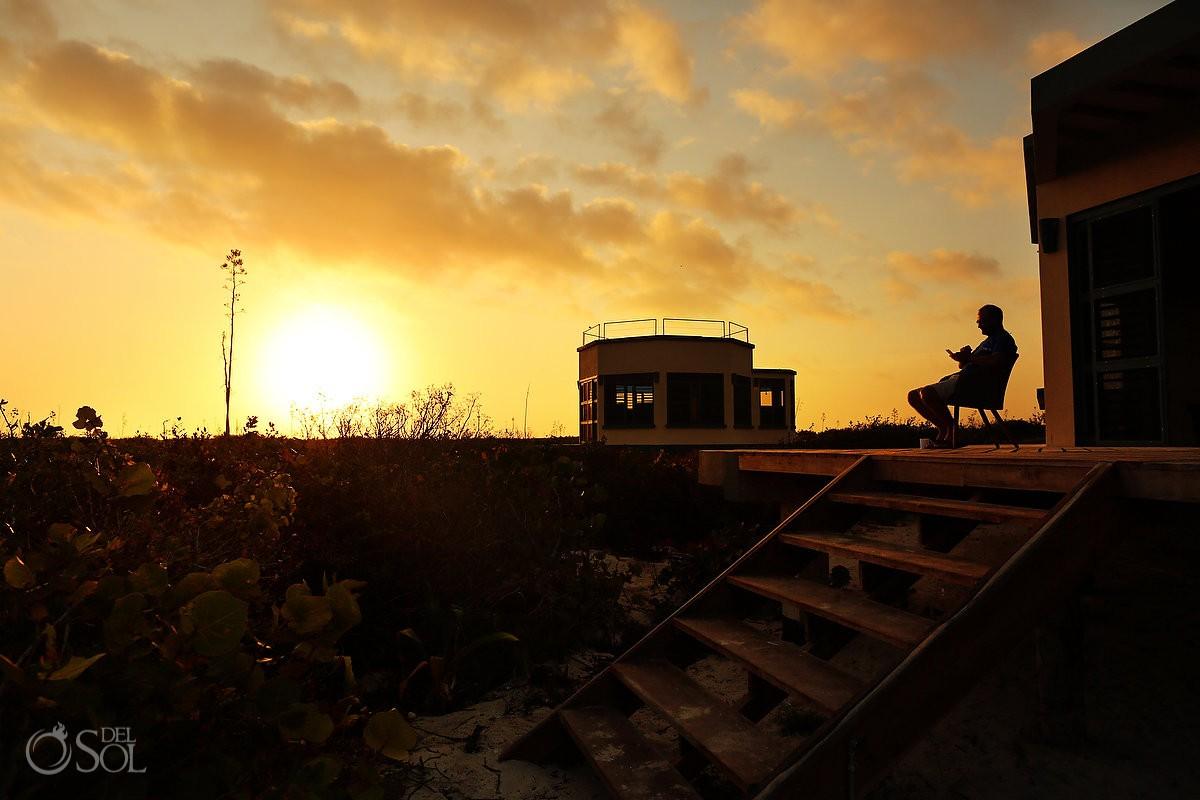 Sunrise at Nirvana Blue Yucatan Mexico