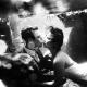 Underwater kiss trash the dress black and white photography Cenote Trash the Dress Riviera Maya Mexico
