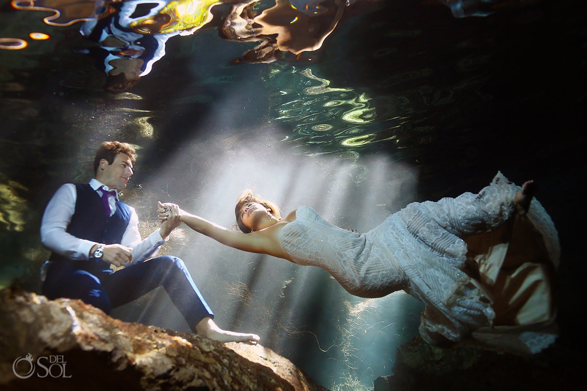 Best trash the dress wedding pictures Cenote Trash the Dress Riviera Maya Mexico