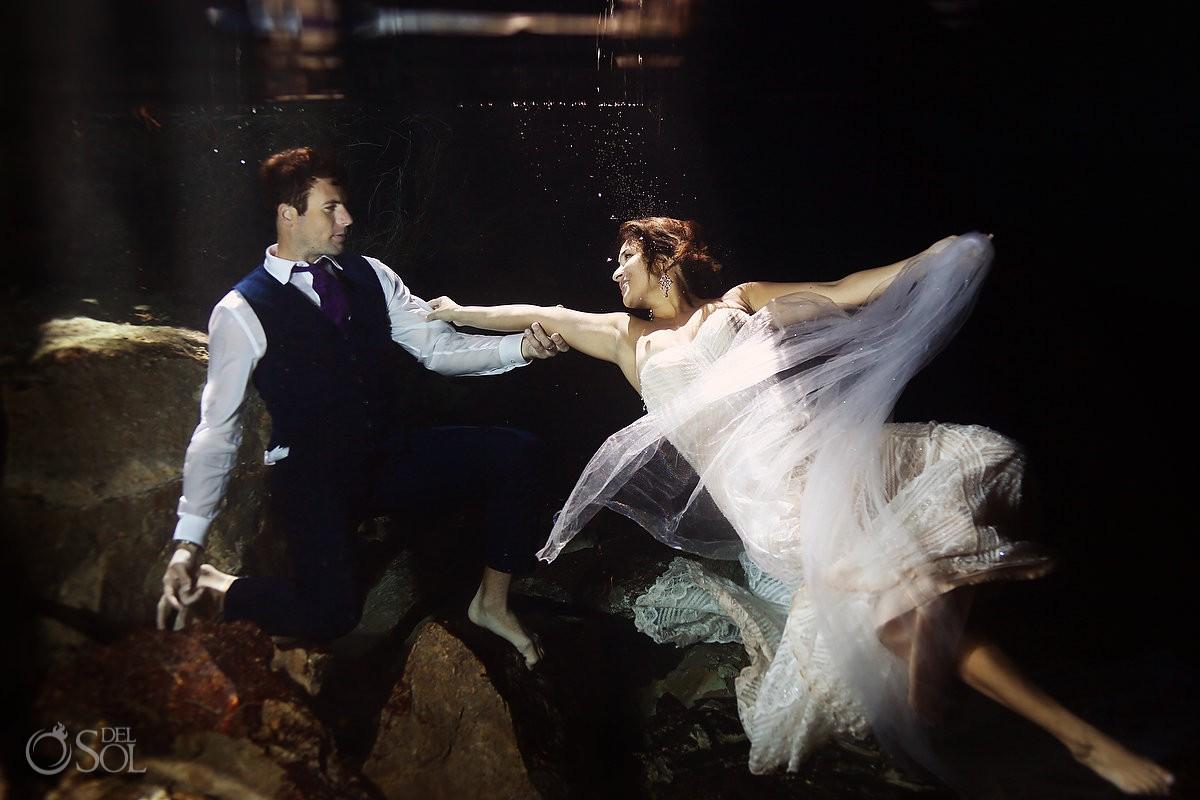 Cenote Trash the Dress Riviera Maya Mexico wedding photography