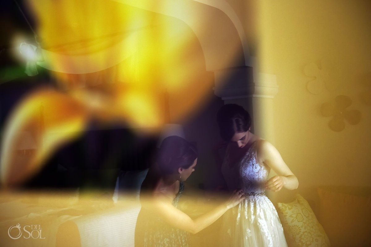 Riviera Cancun Wedding Bride Getting Ready Bokah Now Sapphire