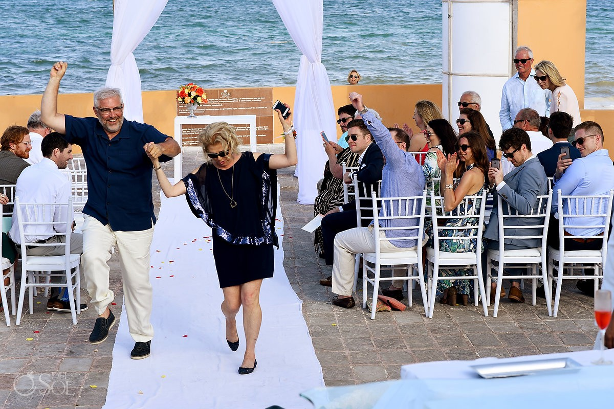 Riviera Cancun Wedding Happy Parents Ceremony Now Sapphire