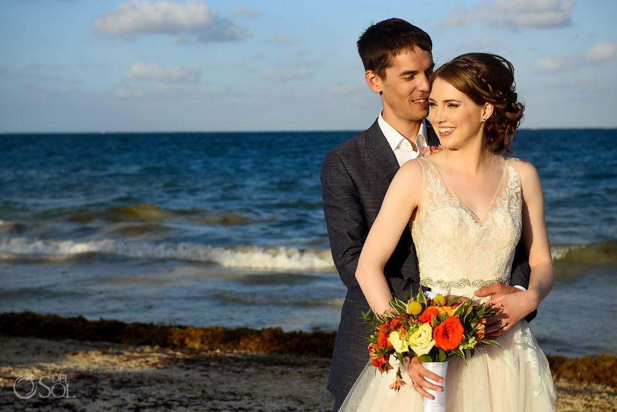 Riviera Cancun Wedding Ocean Portrait Now Sapphire