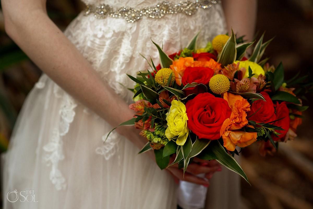 Riviera Cancun Wedding Bride Dress Flowers Bouquet Now Sapphire