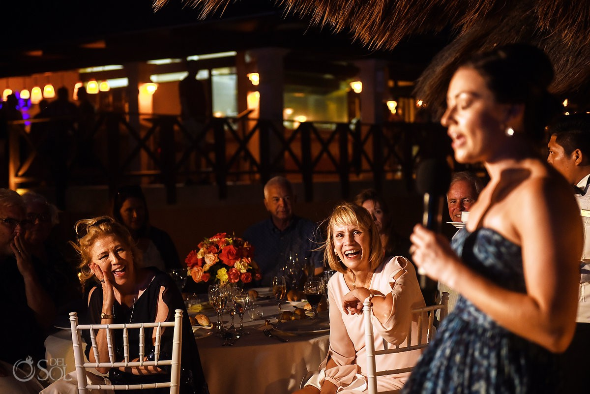Riviera Cancun Wedding Sister Speech Family Laughs Now Sapphire